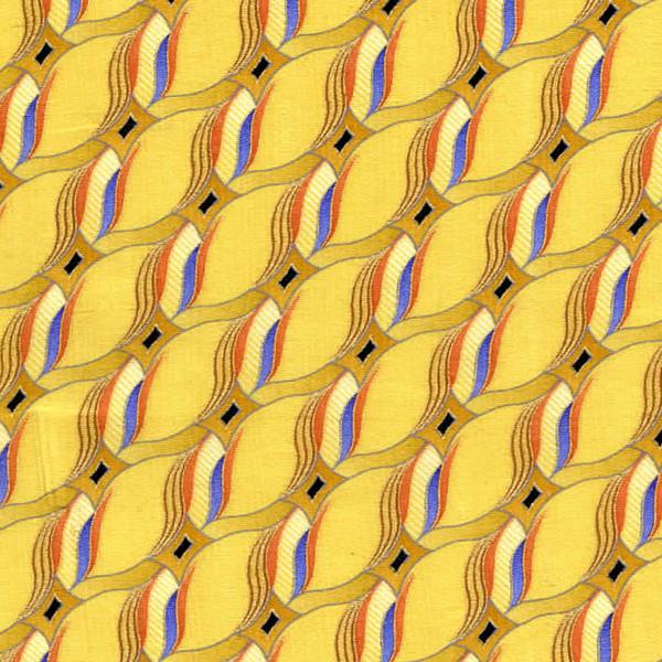 Fabric Print Silk Tie Fabric Pf40 0001 Yellow Richard Tie Fabrics